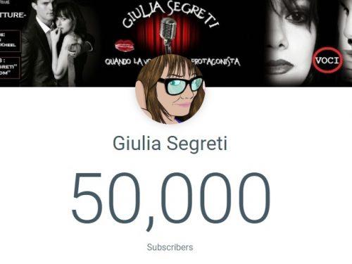 GIULIA SEGRETI, Audiolettrice Erotica con piu' di 50.000 iscritti su YouTube