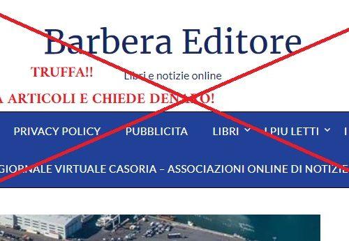 """BARBERA EDITORE ,COPIA GLI ARTICOLI DI """"NOTIZIE DAL WEB""""!! PRENDONO FOTO DI PROPRIETA' DEL NOSTRO GIORNALE!"""